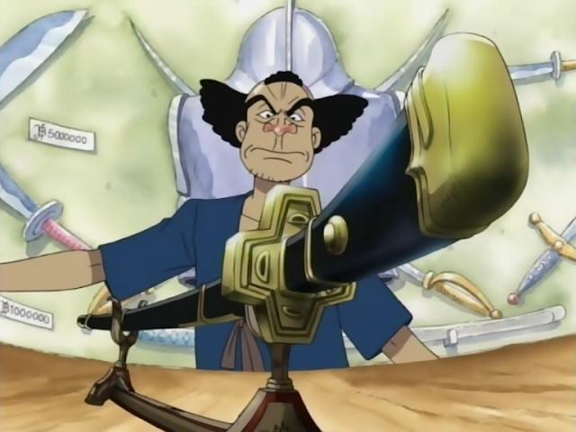 zoro được chủ quán tặng thanh Yubashiri