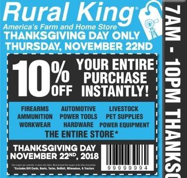 Rural King Black Friday tools 2018 ad