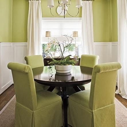 decoración comedor verde