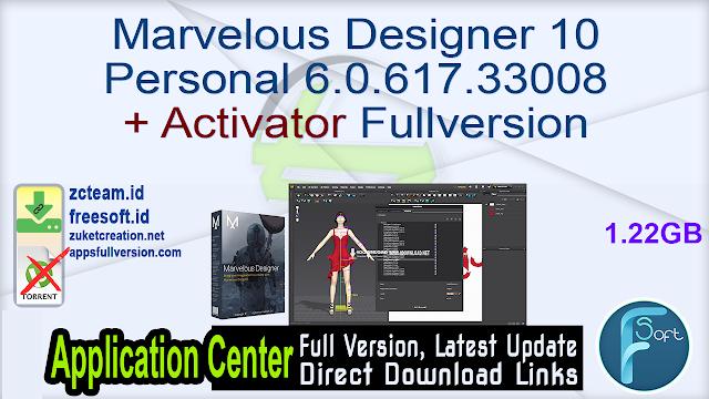 Marvelous Designer 10 Personal 6.0.617.33008 + Activator Fullversion