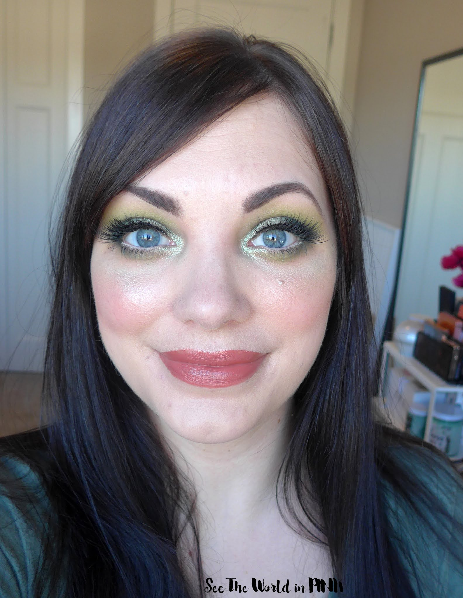 March Shop My Stash ~ Green Makeup Look