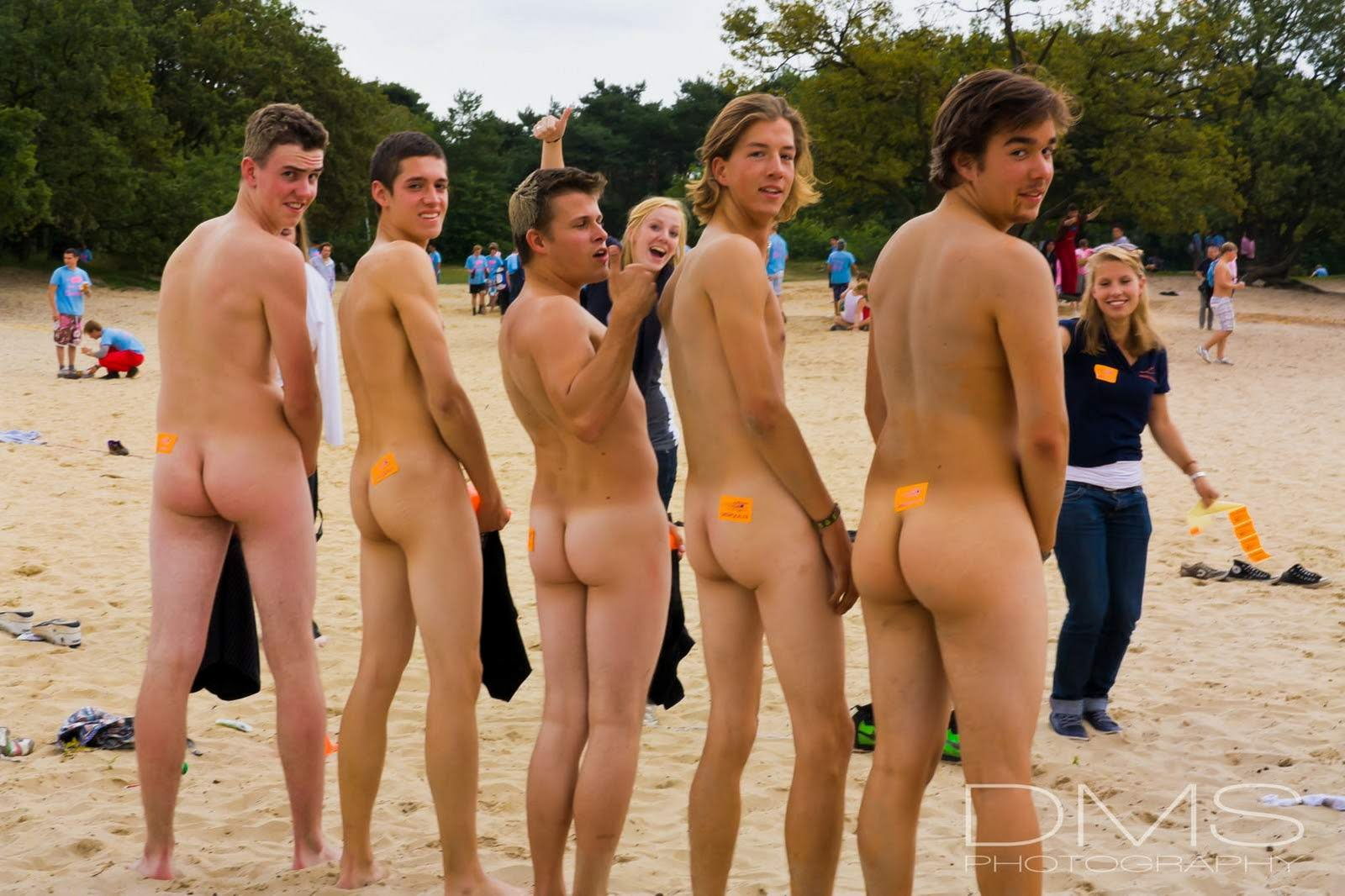 Group men Nude Undressed Dressed