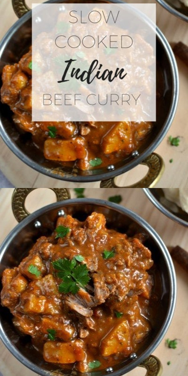 Slow cooked Indian beef curry #Slowcooker