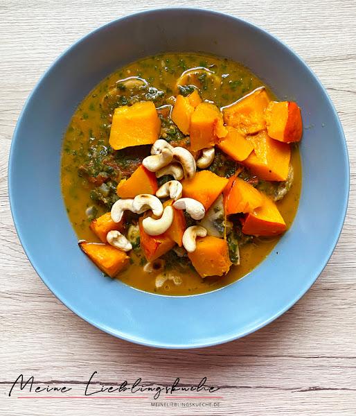 Spinat-Kürbis-Curry