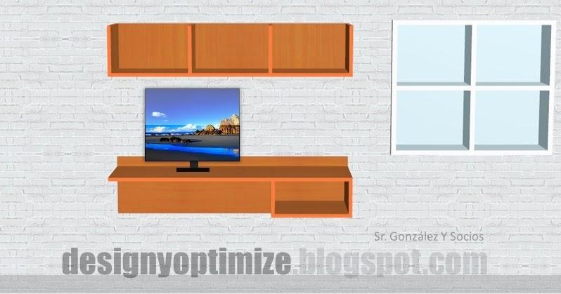 Dise o de muebles madera escritorio flotante planos y for Planos y diseno de muebles