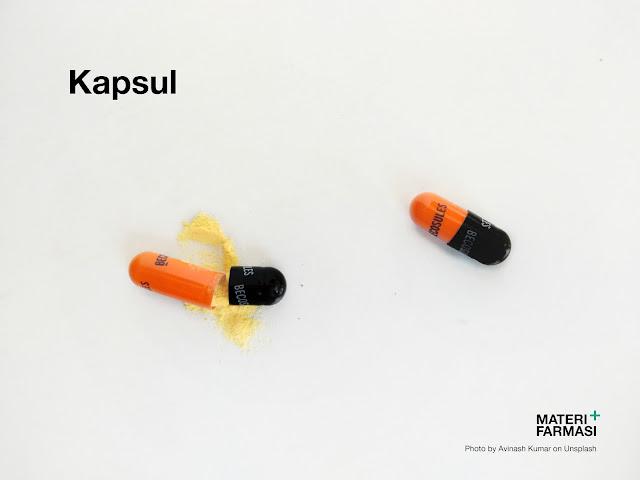 Penjelasan tentang kapsul meliputi pengertian, jenis, ukuran, keuntungan, dan kerugian.
