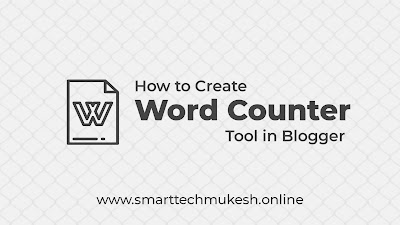 How to Create Word Counter Tool in Blogger