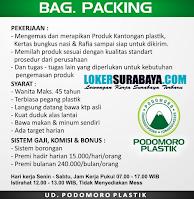 Info Loker Gresik di UD. Podomoro Plastik Oktober 2020