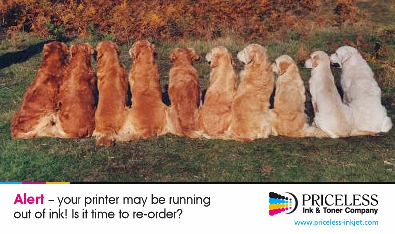 Alert - Your printer may be running out of ink! Is it time to reorder? Visit www.priceless-inkjet.com