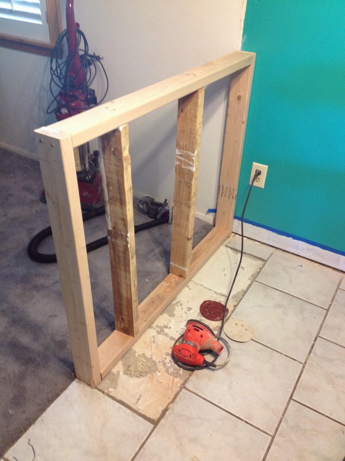 My DIY projects: Pony Wall (Half wall)