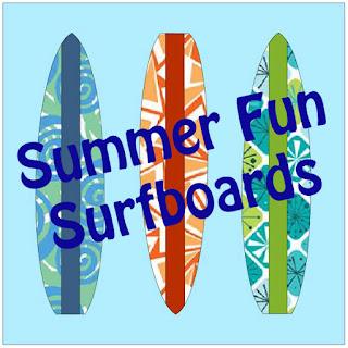QuiltFabrication Summer Fun Surfboards quilt block pattern