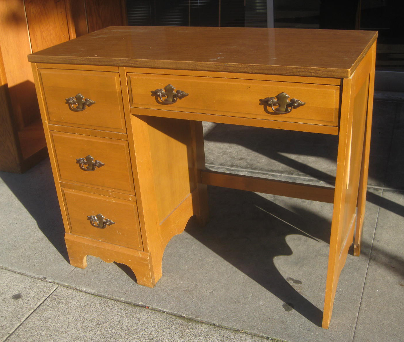 UHURU FURNITURE & COLLECTIBLES: SOLD - Small Wooden Desk - $40