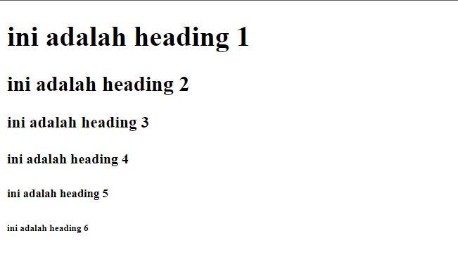 Tutorial HTML Pemula  #2 : Heading, Format Dan Paragraf Pada HTML