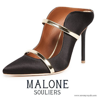 Queen Rania wore Malone Souliers Maureen Mule Pumps