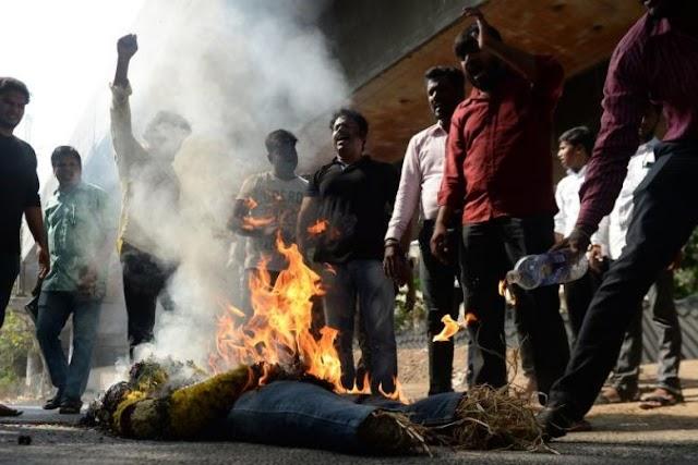 """""""جے شری رام کا نعرہ نہ لگانے پر آگ لگا دی''"""