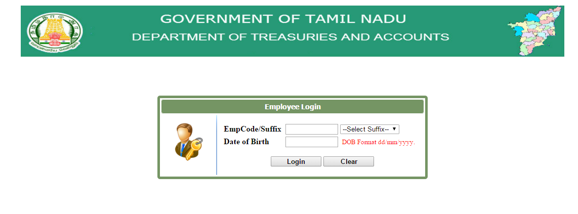 TAMILNADU STATE : DEPT  OF TREASURIES AND ACCOUNTS : PaySlip