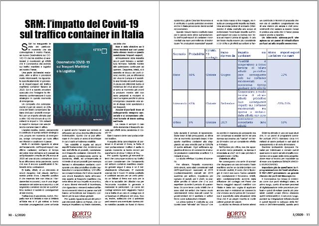 MAGGIO 2020 PAG. 10 - SRM: l'impatto del Covid-19 sul traffico container in Italia