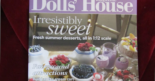 My work in this month's The Dolls House Magazine, Miniature cross stitch Carousel horse
