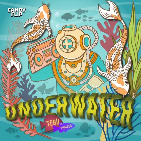 """TEBÜ celebra bajo el agua en su nuevo sencillo, """"Underwater"""", junto a Thaissa"""