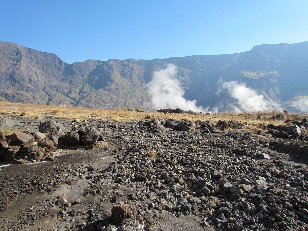 Inside the caldera of Tambora.