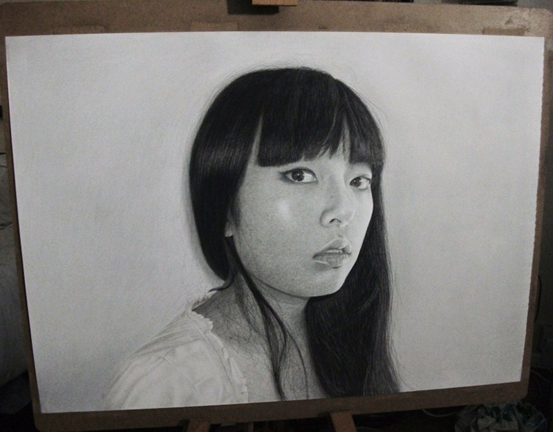 Mana, pencil drawing by Kevin Okafor