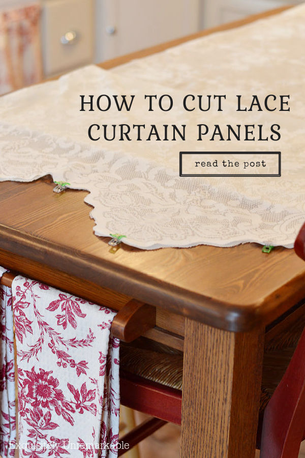 How To Cut Lace Curtain Panels