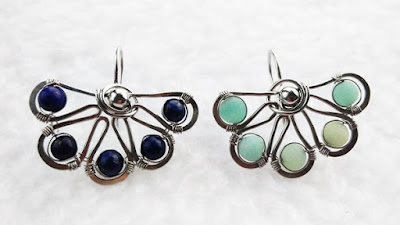 Wire wrapped earrings by WireBliss 2016