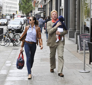 Boris And Lily Becker Out With Their Son