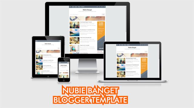Download Nubie Banget Blogger Template by Anas Blogging Tips