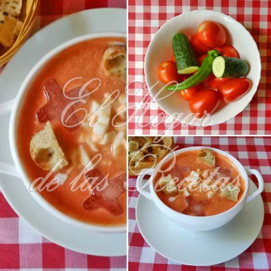 Gazpacho espesado con piel de tomate