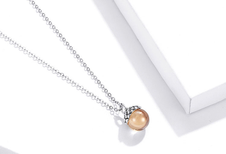 橡樹果實 925純銀項鍊