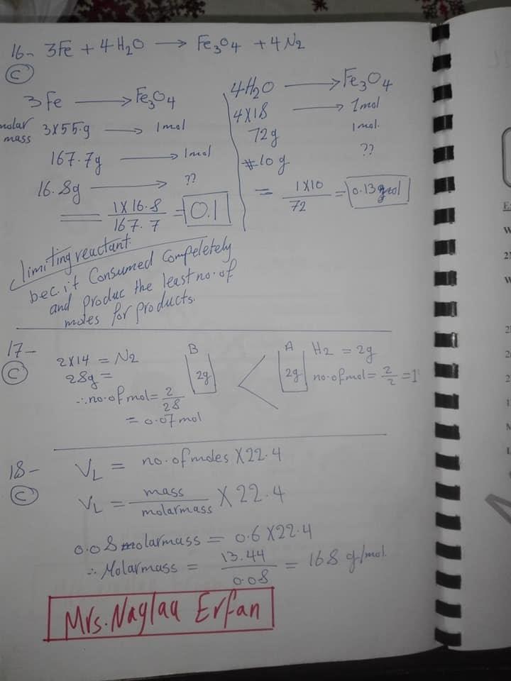 اجابات كتاب المعاصر chemistry اولى ثانوي لغات ترم اول 2020 16