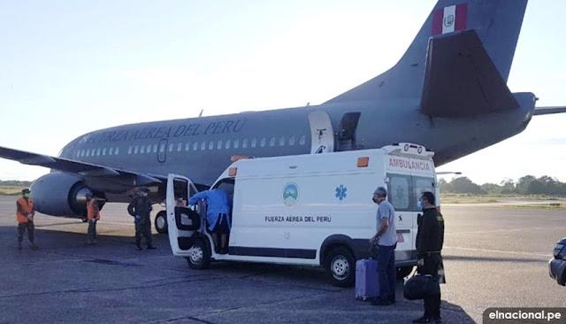Avión presidencial del Perú traslada médicos de Iquitos a Lima