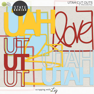 Utah Cut Outs for Digital and Hybrid Scrapbooking