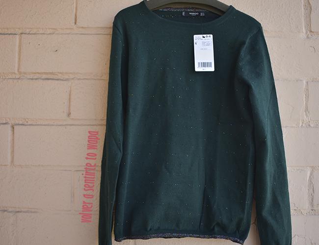 Jersey verde oscuro de MANGO