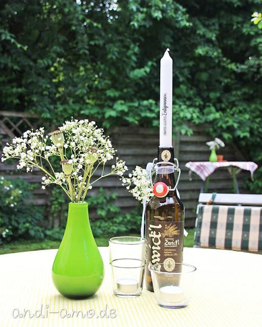 Tischdeko Geburtstag Mann Garten DIY