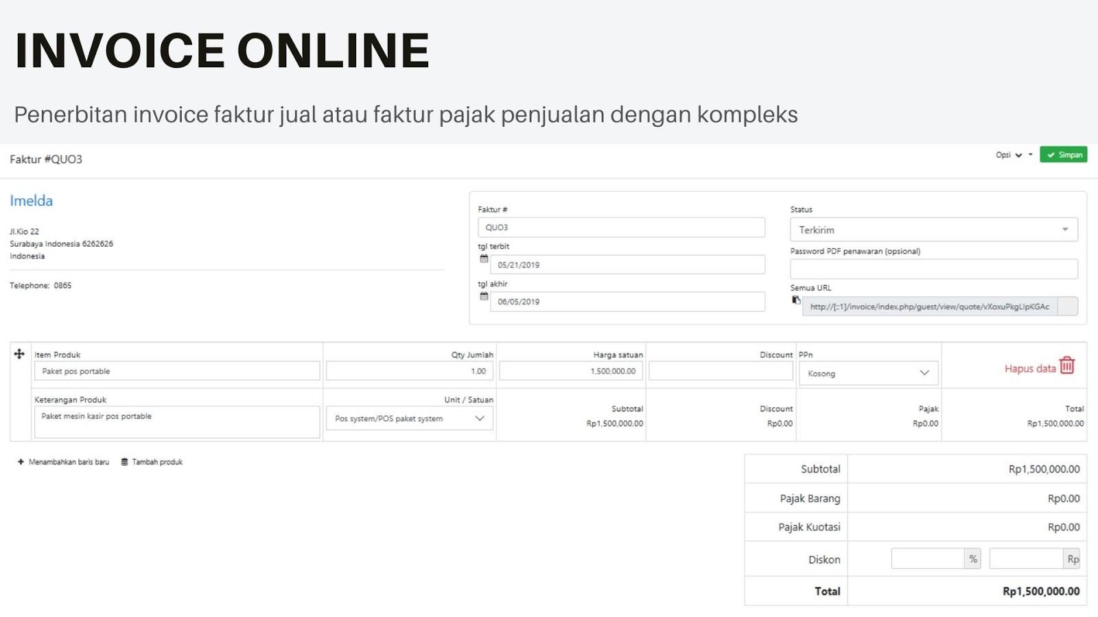 aplikasi invoice online,software program invoice faktur penjualan dan tender project pembukuan online