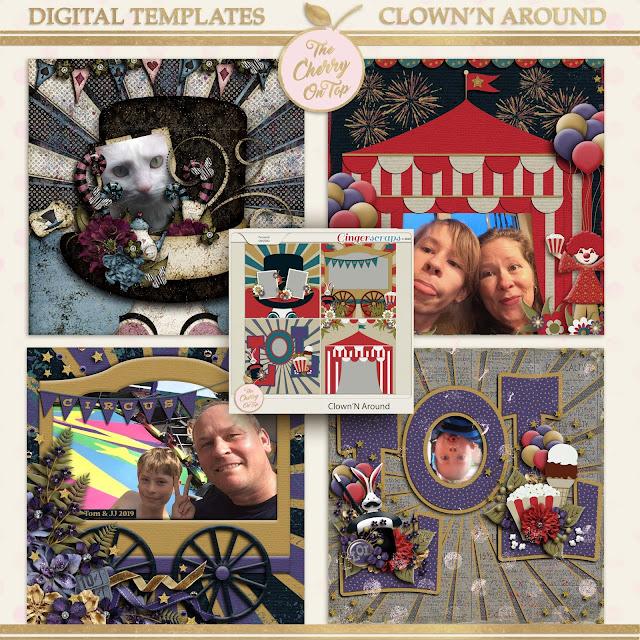 Clown'n Around Templates