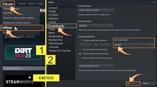 Cara membatasi kecepatan download di steam game