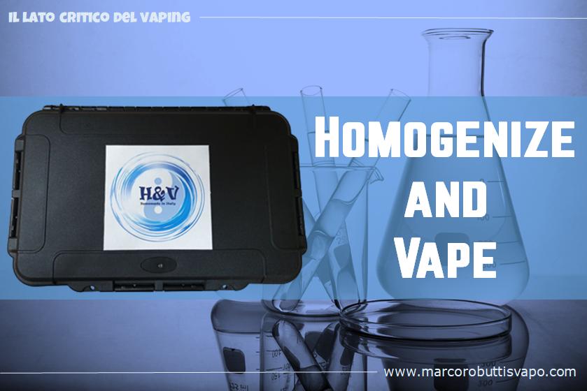 sigaretta elettronica omogeneizzatore no maturazione liquidi