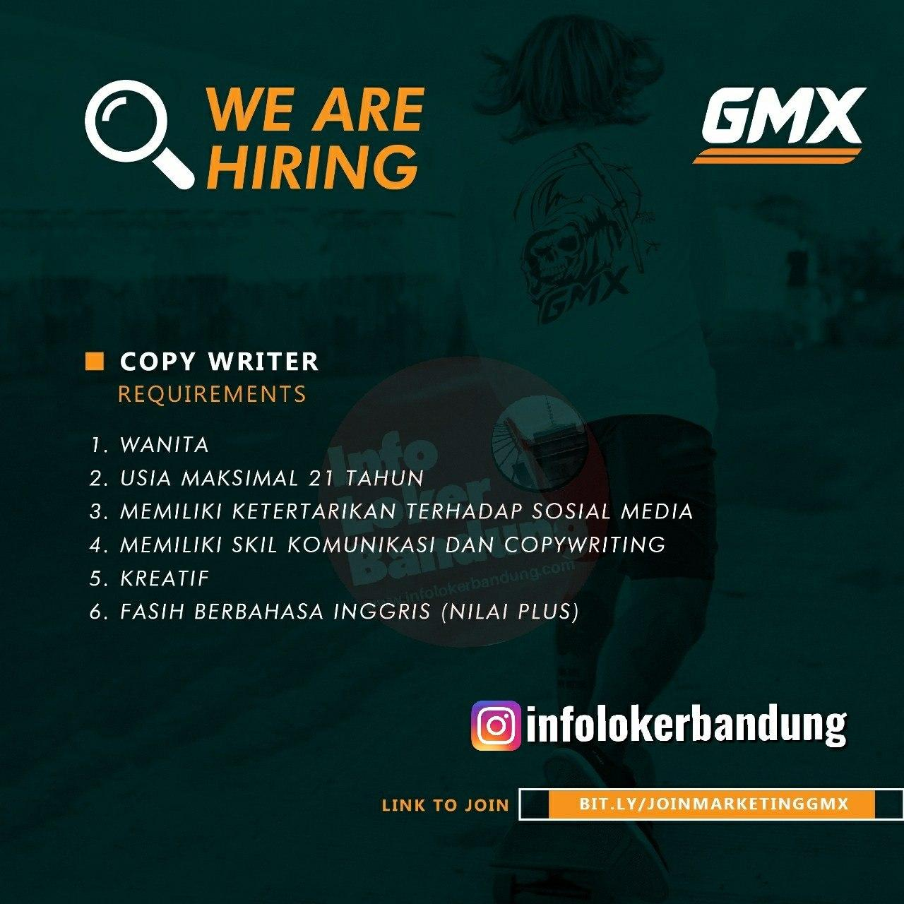 Lowongan Kerja Copy Writer Gmx Bandung Maret 2020