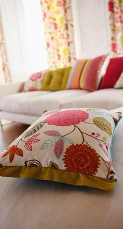 modern floral print cushion