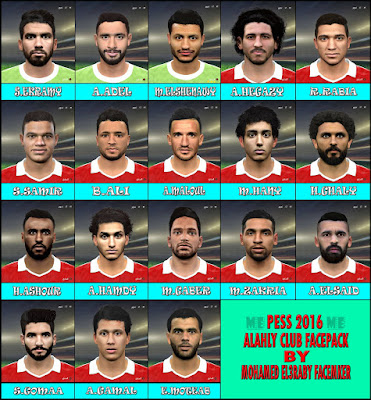 PES 2016 Al Ahly FacePack By M.El3raby Facemaker