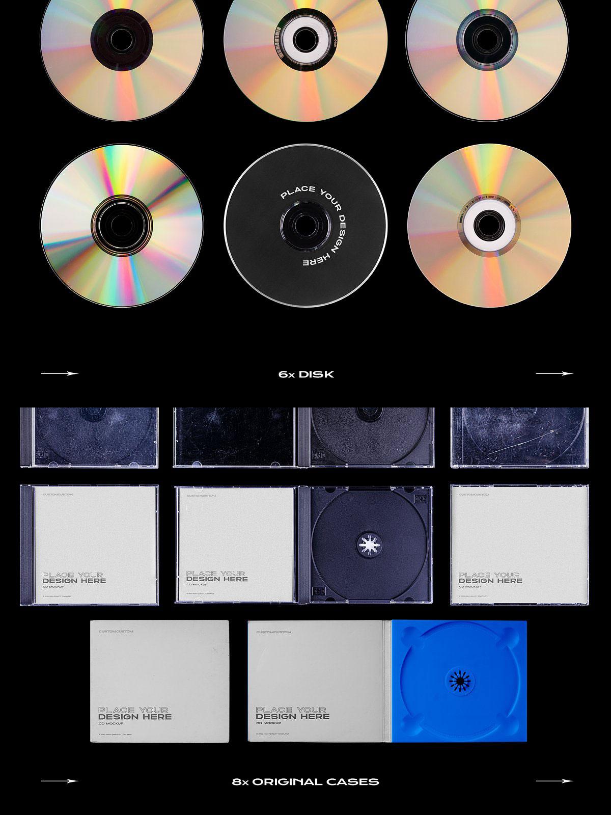 CreativeMarket CD Case Mockup Template Bundle Disc 5319043 Download