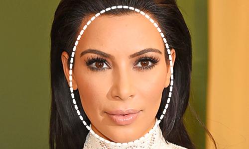 Kim Kardashian rostro ovalado