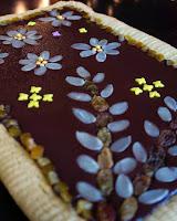 mazurek z czekoladą i kajmakiem