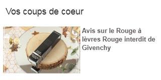 Givenchy coup de coeur Inspilia