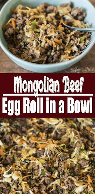 #MongolianBeef Egg Roll in a Bowl