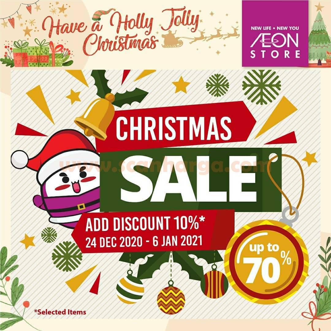 AEON Store Promo Christmas Sale Up to 70% + 10% untuk Produk Fashion