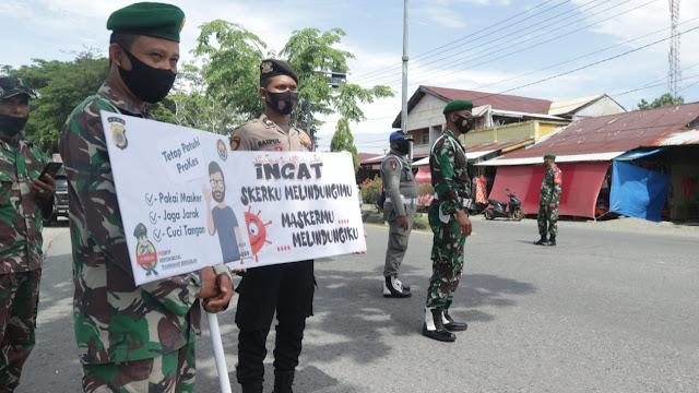 Dandim Aceh Barat : Memasuki Kota Meulaboh Wajib Pakai Masker, Jika Tidak Putar Balik